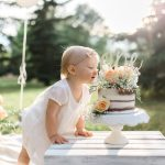 edmonton photographer first birthday milestone session cake smash