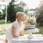 edmonton photographer first birthday milestone session cake smash