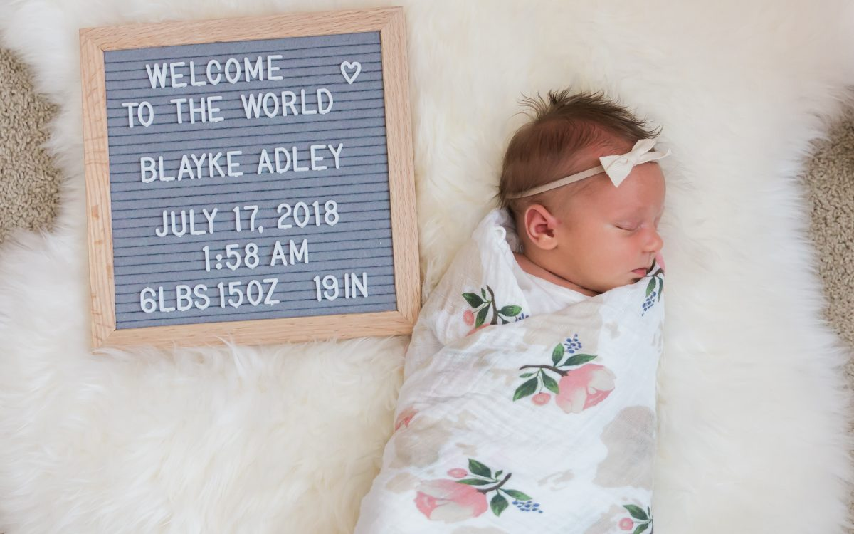 Welcome to the world Blayke Adley