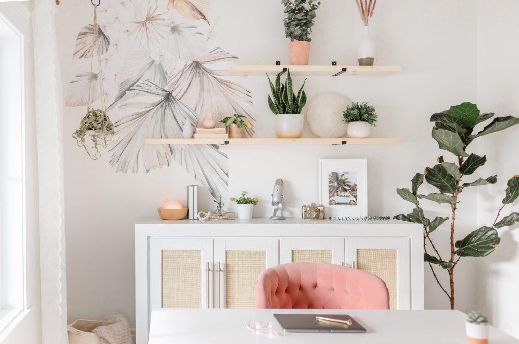 modern feminine boho office